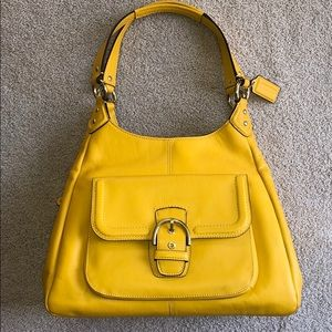 Coach Leather Handbag - Sunshine Yellow